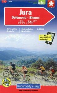 KuF Schweiz Radkarte 03. Jura - Delsberg - Biel 1 : 60 000
