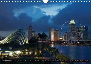 Singapore - Colours of the Night / UK Version (Wall Calendar 201