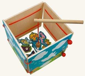 Bino 82764 - Holz-Memo und Angelspiel, Wasserwelt