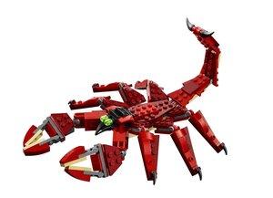 LEGO Creator 31032 - rote Kreaturen, 3in1: Drache, Skorpion, Sch