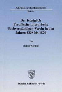 Der Königlich-Preussische Literarische Sachverständigen-Verein i
