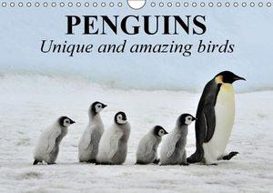 Penguins Unique and amazing birds (Wall Calendar 2015 DIN A4 Lan