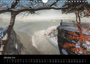 Saxon Switzerland / UK-Version (Wall Calendar 2016 DIN A4 Landsc