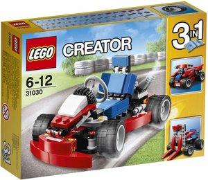 LEGO Creator 31030 - rotes Go-Kart, 3in1: Kart, Gabelstapler, Qu