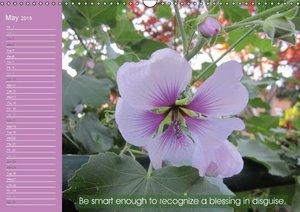 Pastel Flower Quotes (Wall Calendar 2015 DIN A3 Landscape)