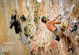 Abenteuer Klettern: Klippen, Felsen, steile Wände (Wandkalender