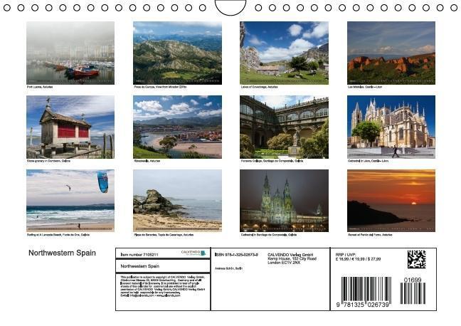 Northwestern Spain (Wall Calendar 2015 DIN A4 Landscape) - zum Schließen ins Bild klicken