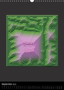 Chaos or Order Computer Generated Art (Wall Calendar 2015 DIN A3