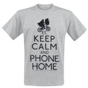 E.T. - Der Ausserirdische - Keep Calm - T-Shirt - grau meliert -