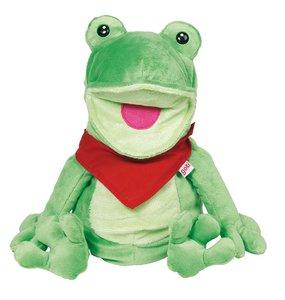 Goki 51785 - Handpuppe Frosch Frilo, 30cm