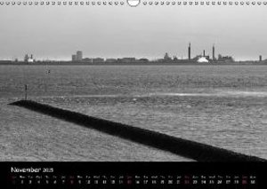 Black White North Sea / UK-Version (Wall Calendar 2015 DIN A3 La
