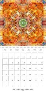 Mandalas de Fleurs (Calendrier mural 2016 300 × 300 mm Square)