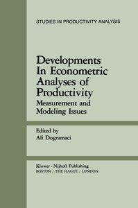 Developments in Econometric Analyses of Productivity