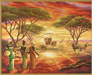 Schipper 609130426 - Malerisches Afrika, MNZ, Malen nach Zahlen