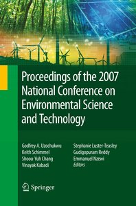 Proceedings of the 2007 National Conference on Environmental Sci