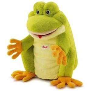 Trudi 29963 - Handpuppe Frosch, 25 cm