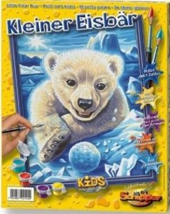 Schipper 609240440 - Kleiner Eisbär, MNZ, Malen nach Zahlen
