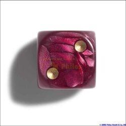 Philos 7100 - Würfel, 12 mm pearl rot, 36er Brick - zum Schließen ins Bild klicken