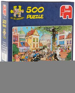 Jumbo 17277 - Jan van Haasteren: Fang die Katze, 500 Teile Puzzl