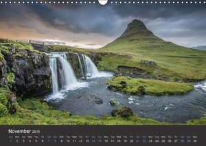 Iceland / UK-Version (Wall Calendar 2015 DIN A3 Landscape)