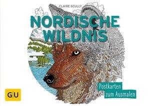 Nordische Wildnis: Postkartenbuch zum Ausmalen