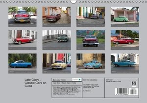 Late Glory - Classic Cars on Cuba (Wall Calendar 2015 DIN A3 Lan