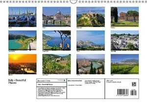 Italy - Beautiful Places (Wall Calendar 2015 DIN A3 Landscape)