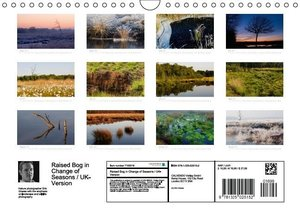Raised Bog in Change of Seasons / UK-Version (Wall Calendar 2015
