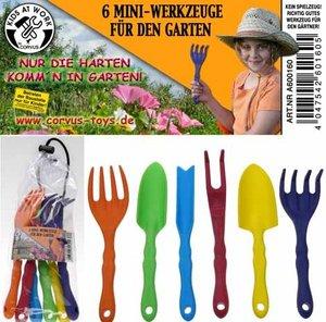 Corvus A600160 - Kids at work: Garten Werkzeuge, 6 Stück