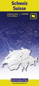 Schülerkarte Schweiz politisch 1 : 600 000. Kümmerly- und Frey-K