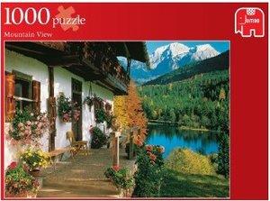 Blick auf die Berge. Puzzle 1000 Teile