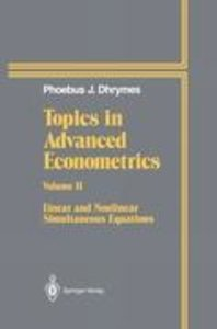 Topics In Advanced Econometrics