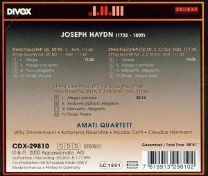 Amati Quartett: Streichquartette op.50,1-3