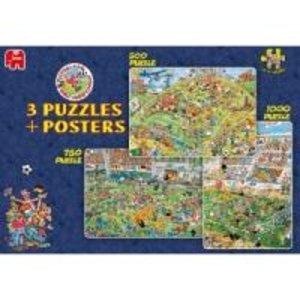 Jan van Haasteren - Fußball 3-in1 Box. Puzzle