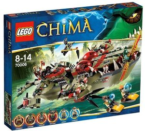 LEGO® Legends of Chima 70006 - Craggers Croc-Boot Zentra