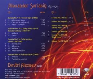 Scriabin:Sämtliche Klaviersonaten/Complete Piano S - zum Schließen ins Bild klicken