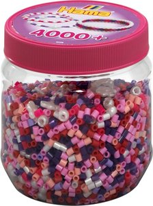 HAMA Dose Pink Mix 4.000St & 100Schmuckp