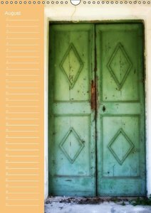 Greek Windows and Doors (Wall Calendar perpetual DIN A3 Portrait