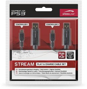 Speedlink SL-4408-BK STREAM Play & Charge Cable Set - Ladekabel