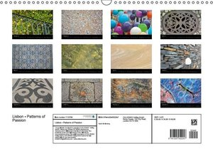 Lisbon - Patterns of Passion (Wall Calendar 2015 DIN A3 Landscap