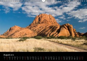 Landscapes of Namibia / UK-Version (Wall Calendar 2015 DIN A3 La