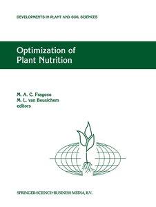 Optimization of Plant Nutrition