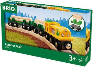 Holz-Transportzug