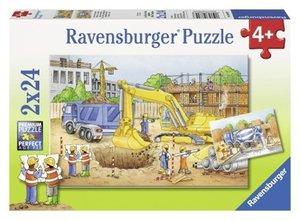Vorsicht, Baustelle! Puzzle 2 X 24 Teile