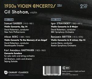 1930s Violin Concertos Vol.1