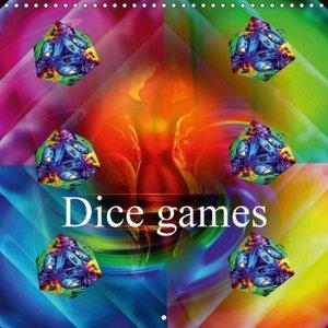 Dice games (Wall Calendar 2015 300 × 300 mm Square)