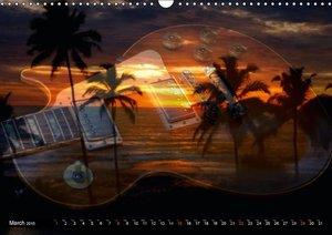 Mystical Guitars (Wall Calendar 2015 DIN A3 Landscape)