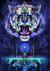 Chris Saunders, Fauchender Tiger. Puzzle 1000 Teile