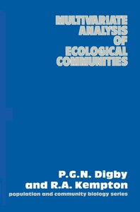 Multivariate Analysis of Ecological Communities