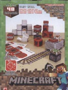 Minecraft 16713 - Minecart, Papierset, 48 Teile